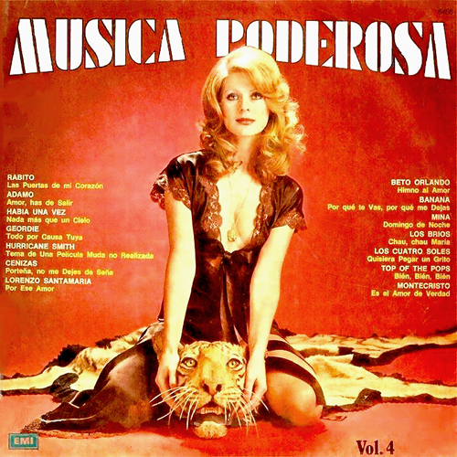MUSICA PODEROSA VOL 4 lp record album with cat cover artwork tiger