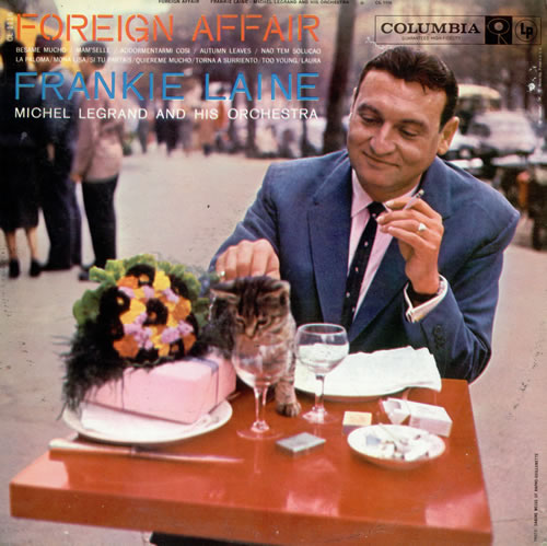 Frankie Laine Foreign Affair LP record album with cat cover artwork photo