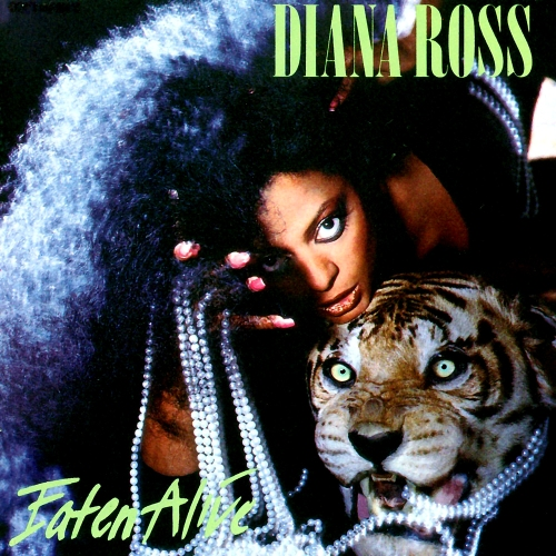 diana ross eaten alive vinyl lp record album with tiger cat cover artwork