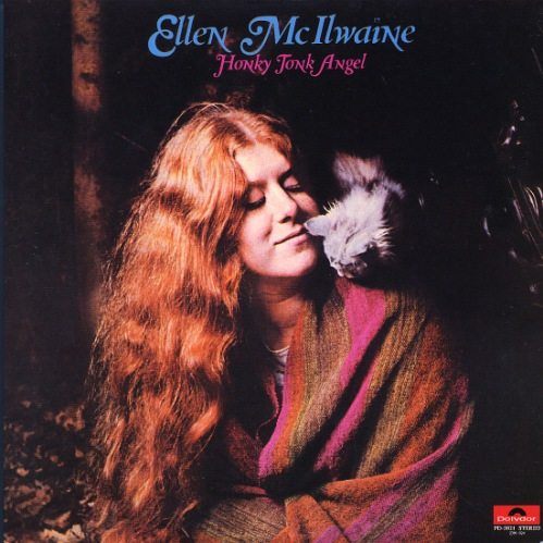 ellen mcIlwaine honky tonk angel vinyl lp record with cat cover art