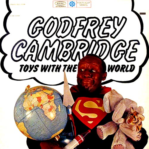 godfrey cambridge toys with the world lp record album with cat lion cover artwork