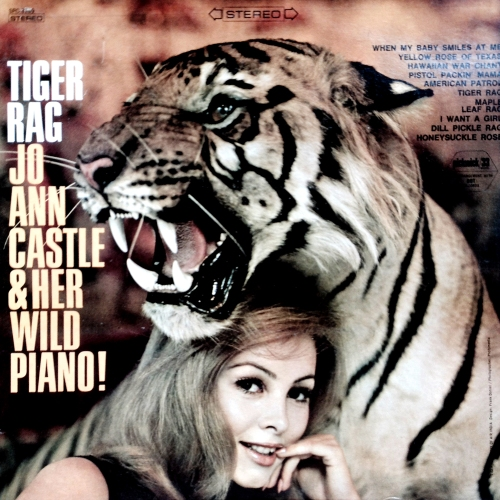 jo ann castle and her wild piano tiger rag lp vinyl record album with tiger cat cover