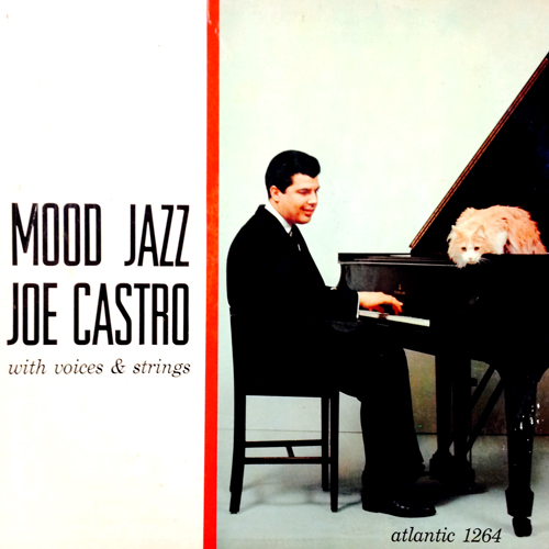 joe castro with voices and strings mood jazz vinyl lp record album with cat cover artwork
