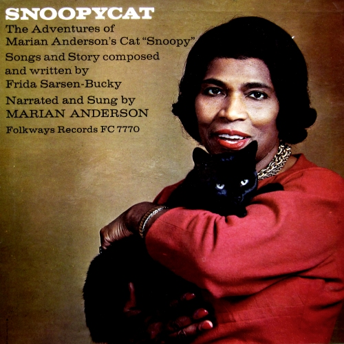 marian anderson snoopycat folkways FC 7770 vinyl record cover with kitty black cat cover artwork