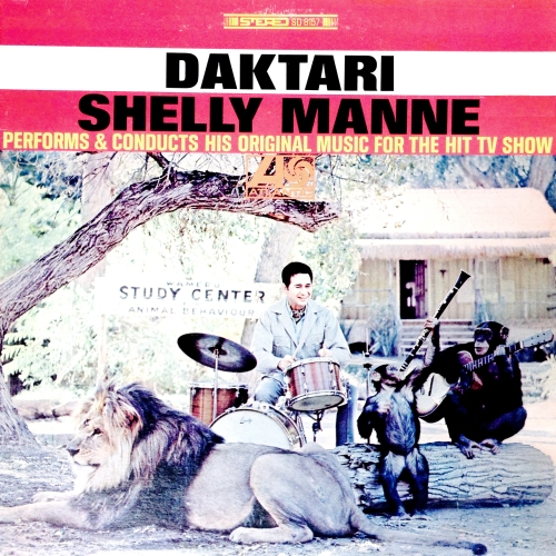 Shelly Manne Daktari TV Soundtrack Vinyl Record Album with Lion Cat Cover Photo Art