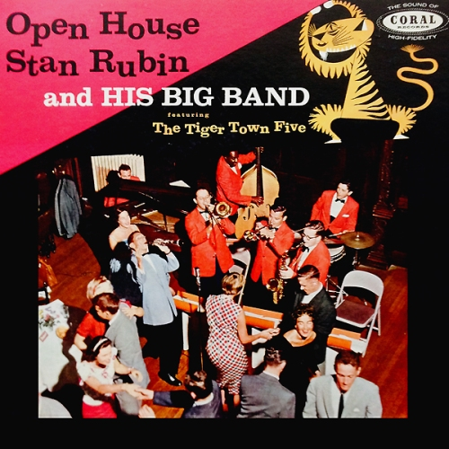 stan rubin tiger town five open house vinyl record album with cat kitten cover art