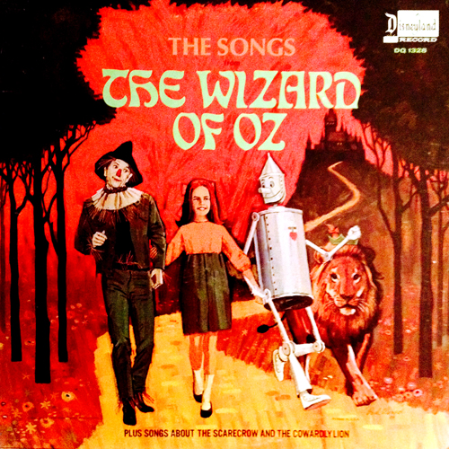 the songs from the wizard of oz cowardly lion vinyl lp record with lion cat cover artwork