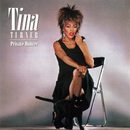 tina private dancer record cover with black cat artwork
