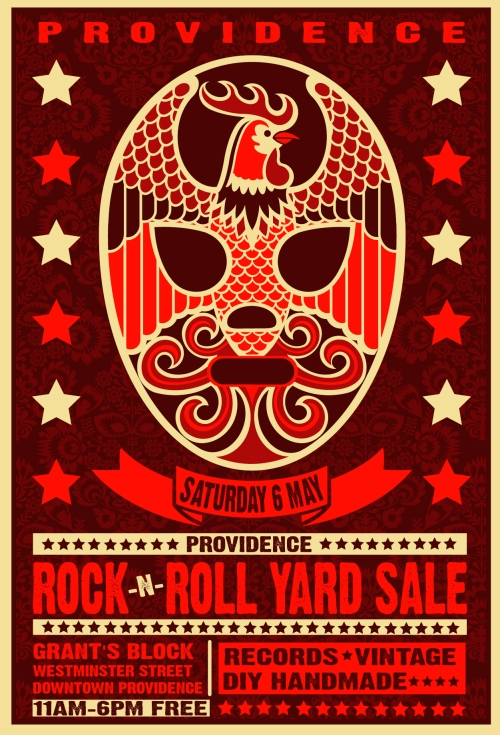 2017 TACO FEST PROVIDENCE ROCK + ROLL YARD SALE POSTER