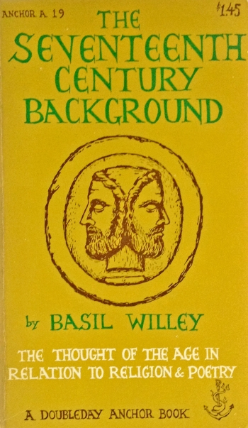 basil willey the seventeenth century background doubleday anchor A 19 paperback with edward gorey cover art typography