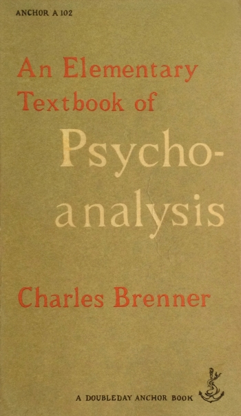 charles brenner an elementary textbook of psychoanalysis doubleday anchor A 102 with edward gorey cover art typography