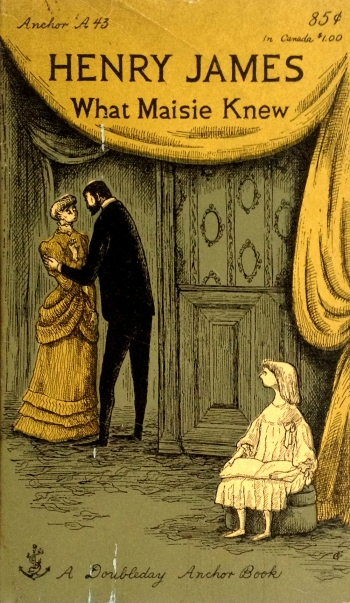 henry james what maisie knew anchor A43 paperback with edward gorey cover art and typography