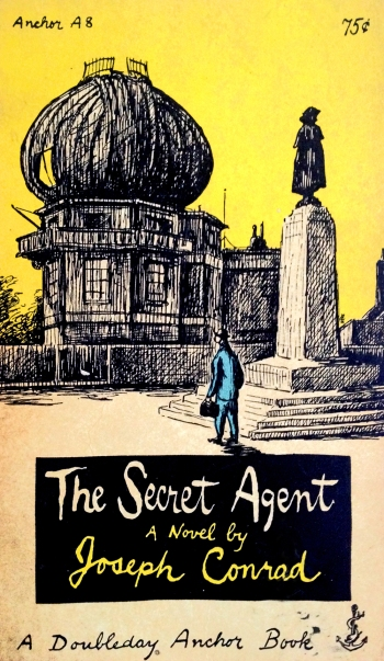 joseph conrad the secret agent doubleday anchor A8 paperback with edward gorey cover art and typography