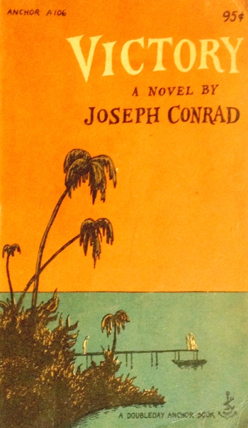 joseph conrad victory doubleday anchor A 106 paperback with edward gorey cover art and typography