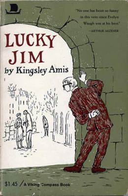 kingsley amis lucky jim paperback book with edward gorey cover artwork art