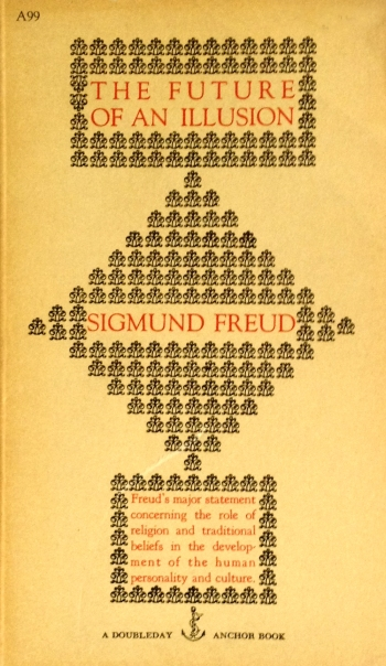 sigmund freud the future of an illusion doubleday anchor A99 paperack with edward gorey cover art typorgraphy