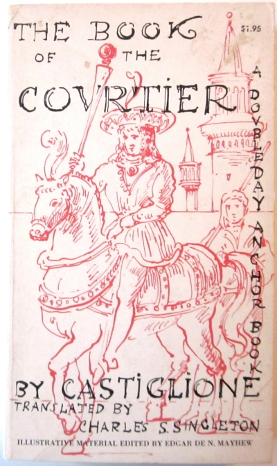 edward gorey cover artwork for Anchor A 122 the book of the covrtier by castiglione