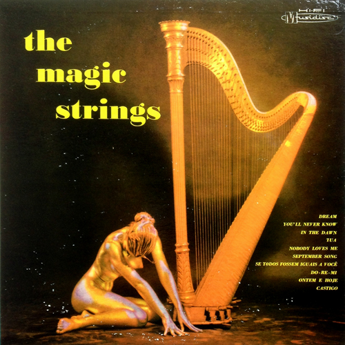 the Magic Strings 'Self-Titled' 1959 Lp with Nude Woman in Gold Bodypaint M 6001