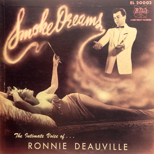 Ronnie Deauville Smoke Rings ERA EL 20002 Lp from 1956 with Risque Cover