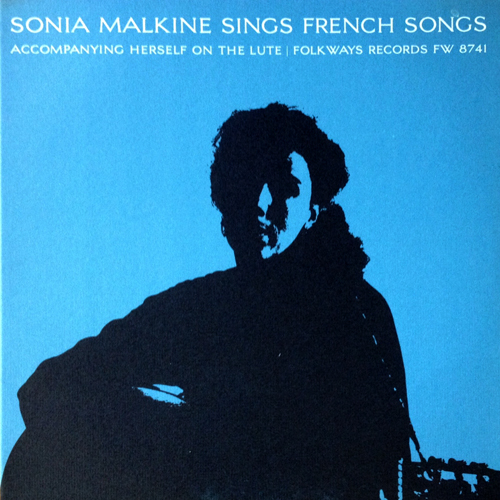 Sonia Malkine Sings the French Songs Folkways FW 8741 Cover